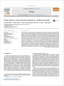Global trends in urban electricity article cover