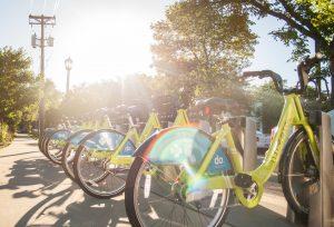 Nice Ride bike share station in Minneapolis.