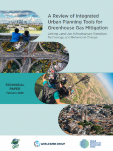 Screenshot of report cover with pictures of cities